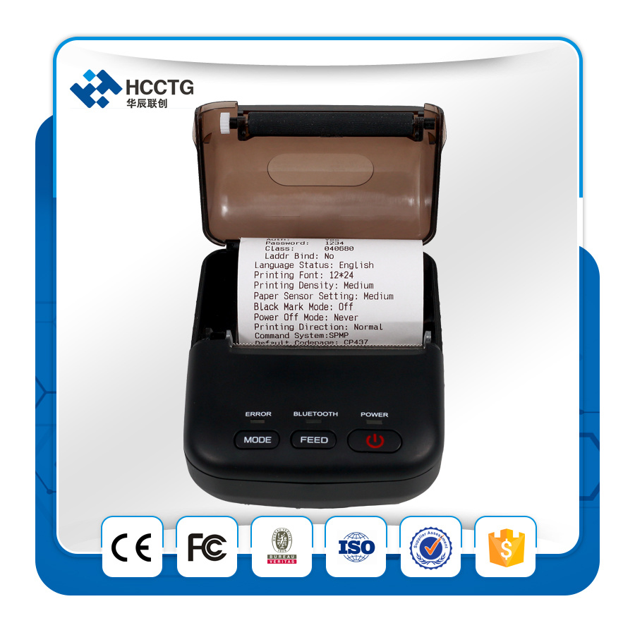 Cheap Thermal Receipt Paper 58mm Mini Portable Bluetooth Thermal Printer T12