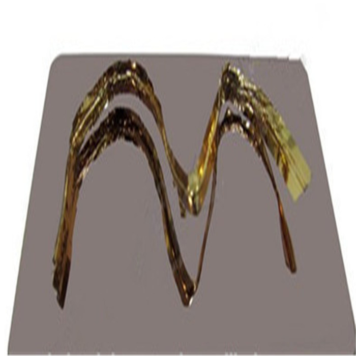 Bronze Color Stainless Steel Sheet Hairline Finish AISI 304 / AISI430