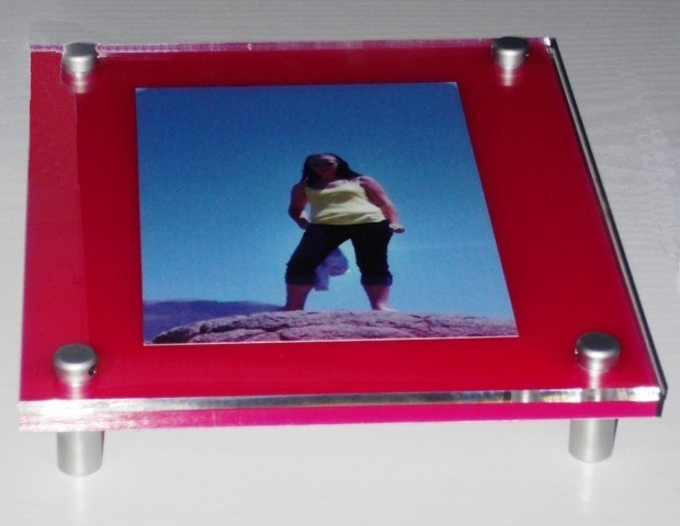 Customize pH-121 Clear Acrylic Wall Mount Photo Picture Frame