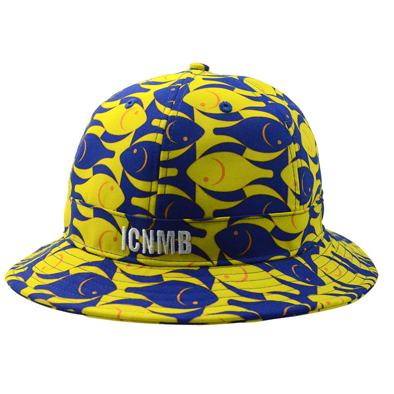 Custom Floral Polyester Fishing Cap Sun Protection Bucket Hat
