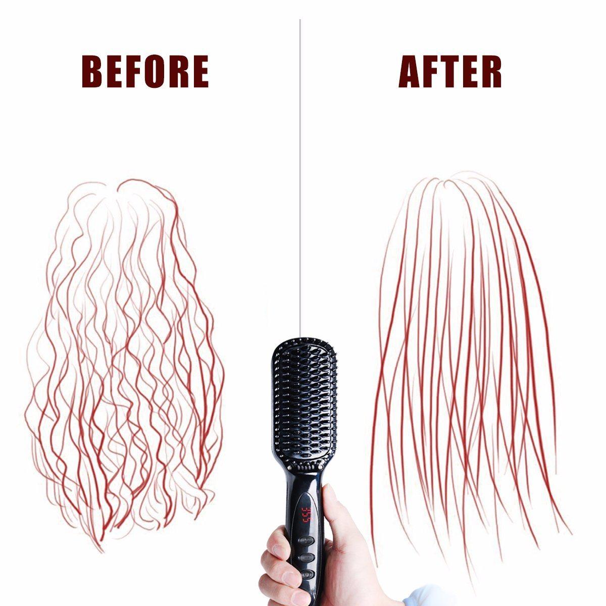 Anion Hair Straightener Brush