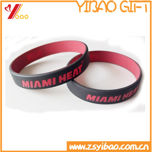Custom Logo Printed Silicone Wristband for Promotional Gift (YB-SM-12)