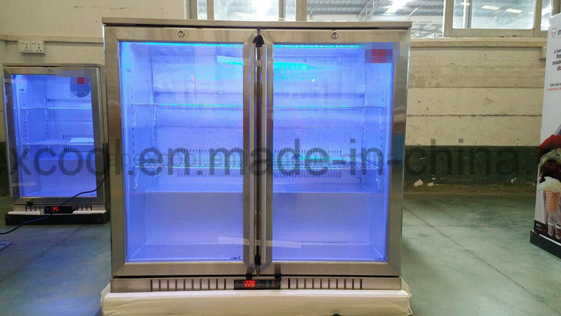 Two Doors Under Bar Cooler Commercial Refrigerator, Back Bar Cooler