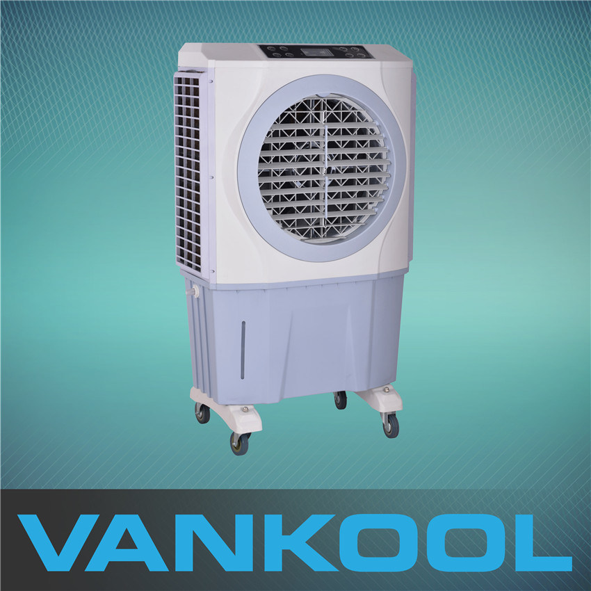 Cheap Price Portable Air Cooler with RC, LED Display, 3 Speed, Moving, 8 Hours Timer