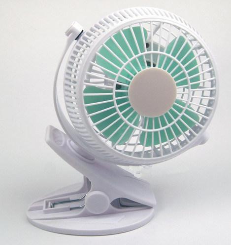 2 level wind speeding USB miniCharging fan with clamp -White