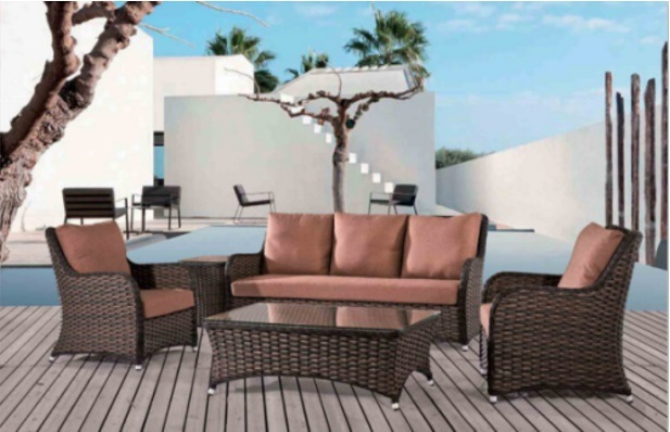 Outdoor Leisure Alu Rattan Sofa