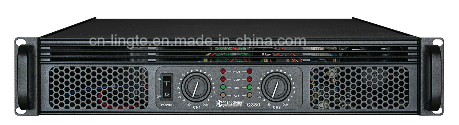 Q Series Reliable Class Ab 2u Professional Power Amplifier