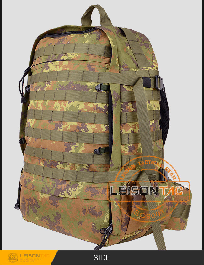 Tactical Army Backpack with Military ISO Standard Camouflage Nylon