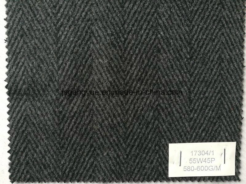 Herringbone Woolen Woven Fabric