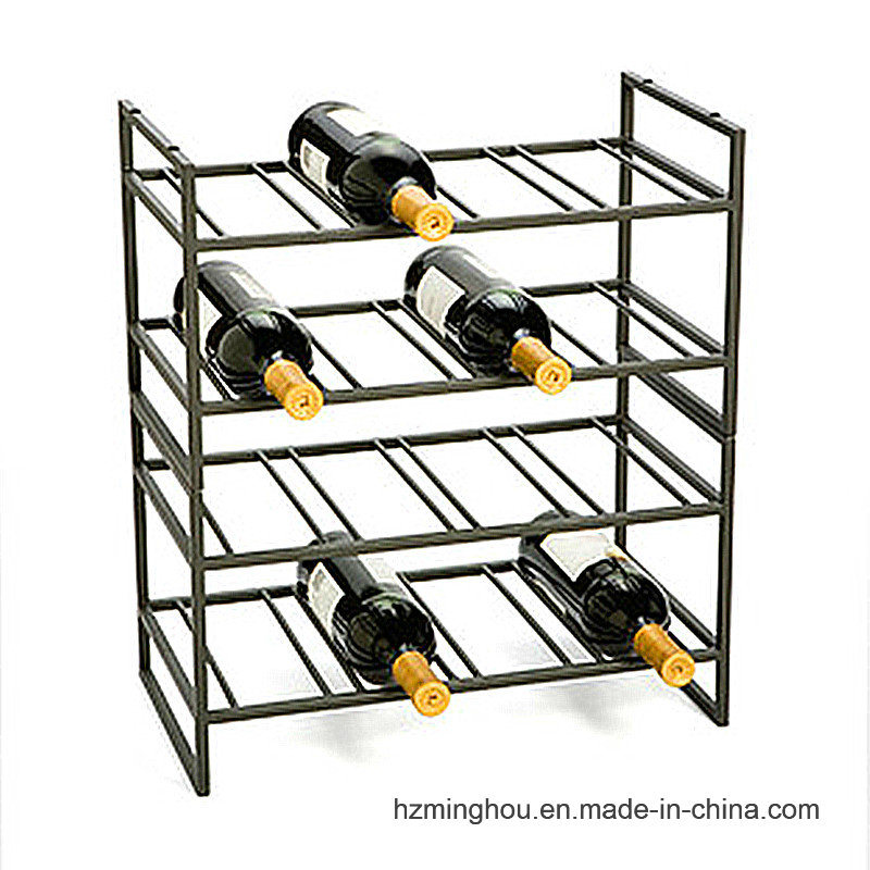 4 Layer Delicate Design Metal Display Rack for Wine Storage