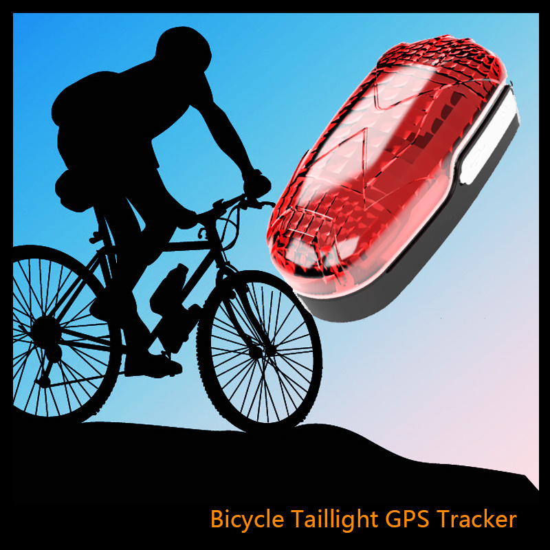 Tk906 Long Standby Time Waterproof LED Light GSM GPS Tracker for Bike Easy Hidden SIM Card Bicycle Lifetime Free Platform