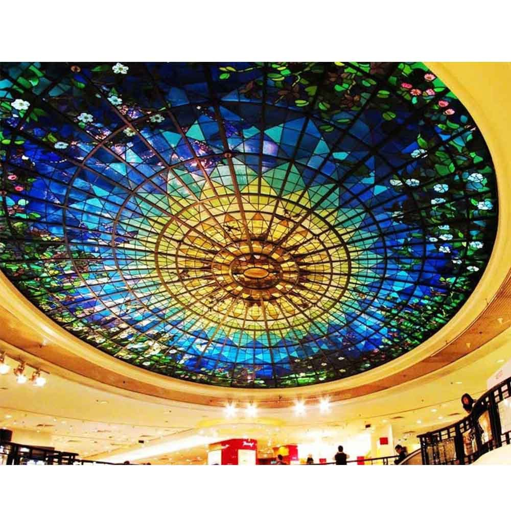 Interior Construction Custom Size Glass Room Lights Beauty Flower Ceiling