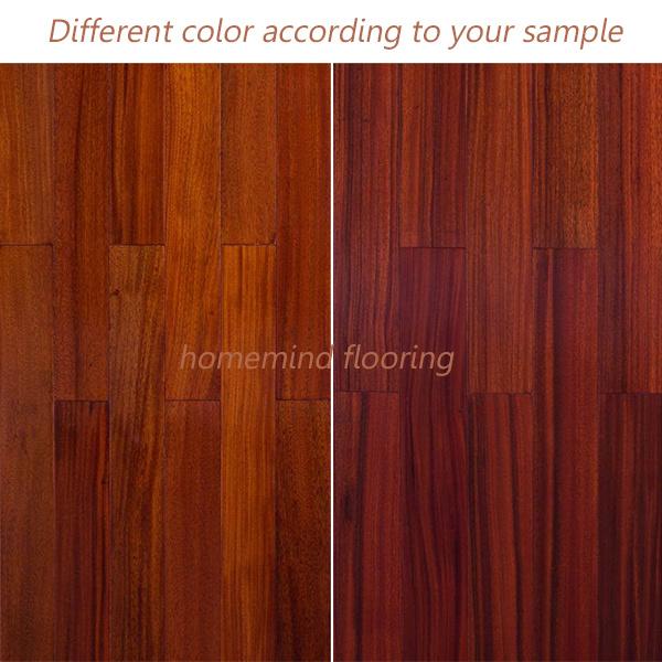 Okan Hardwood Flooring/Solid Wooden Flooring with Red Color