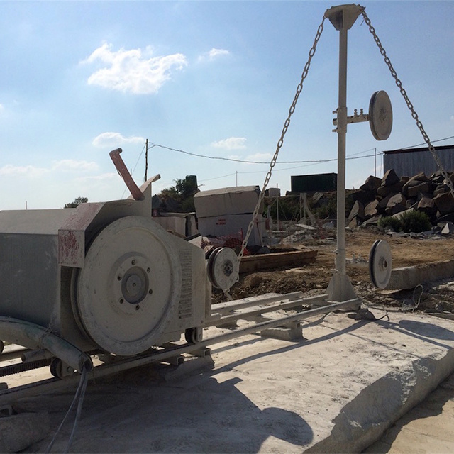 11kw/15kw Mini Wire Saw for Block Trimming of Natural Stone