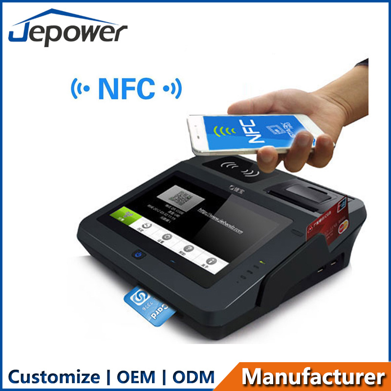 Ce FCC Bis EMV Certified All in One NFC 3G Payment Terminal Android POS with Printer