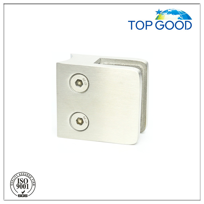 Inox Square Glass Clamp with Safety Plate