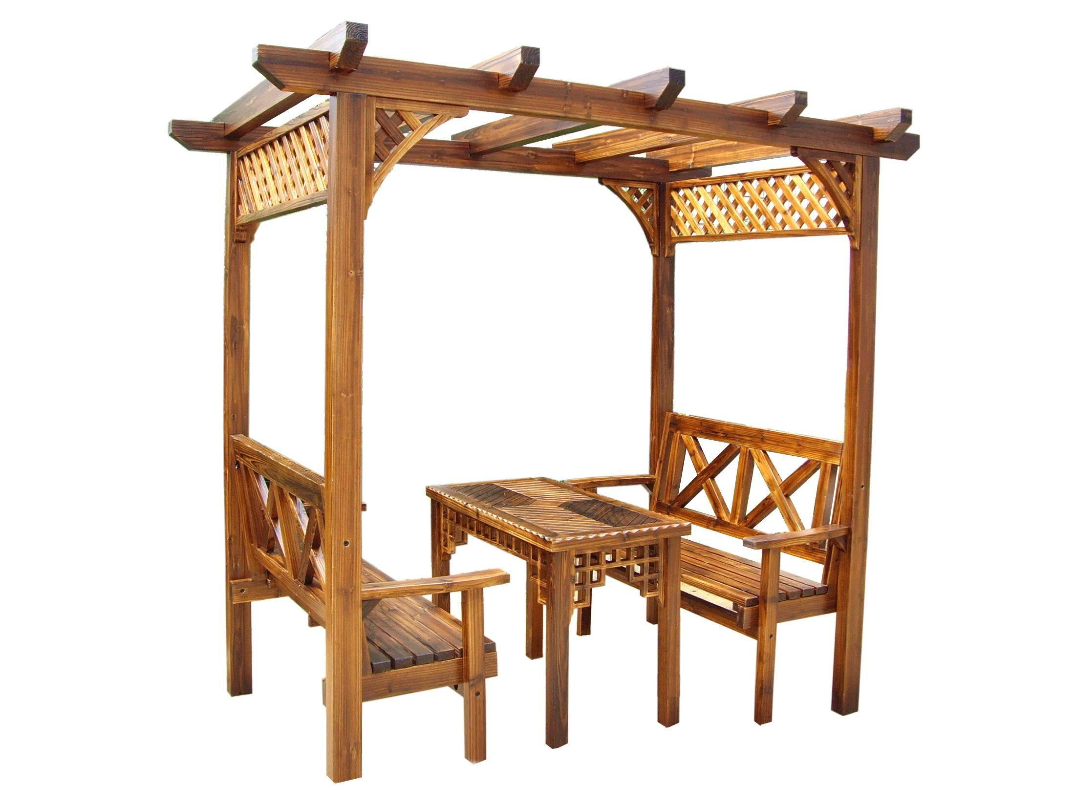 Very Impressive portraiture of Pavilion /Wooden Gazebo / Outdoor Furniture (SC Y009) China Wooden  with #C27E09 color and 2200x1650 pixels