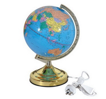 light with world globe  lamp
