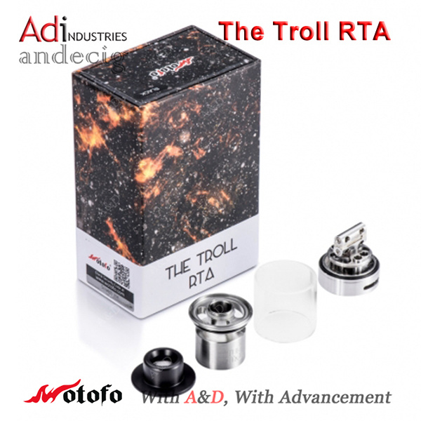 Newest Wotofo The Troll Rta, 5.0ml Top Filling Tank