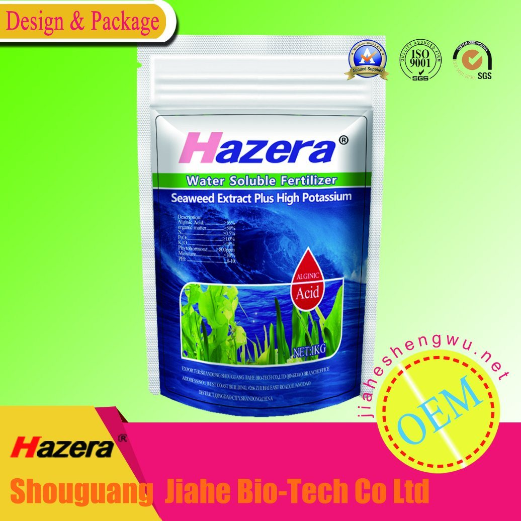 Flake Seaweed Extracts Organic Potassium Fertilizer for Drip Irrigation, Foliage Spray