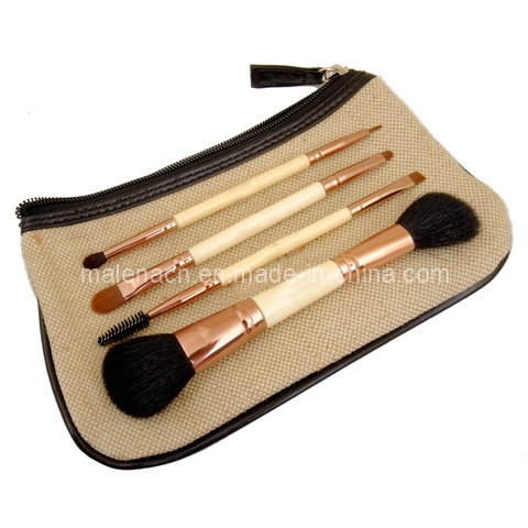 4PCS Dual Ends Cosmetic Brush Makeup Brush with Synthetic Hair