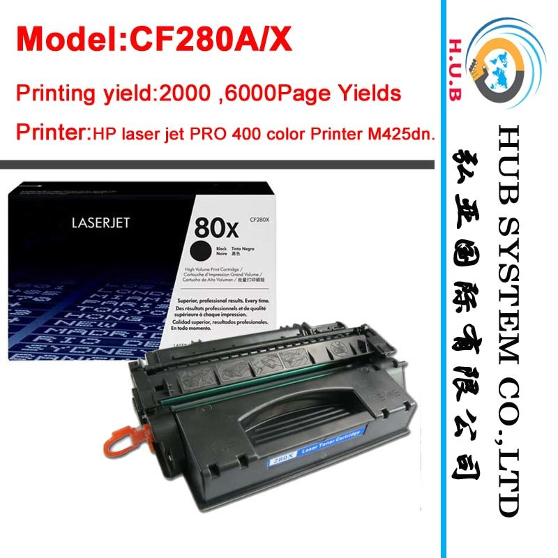 Original Laser Toner Cartridge for HP CF280A /CF280X (OEM factory)