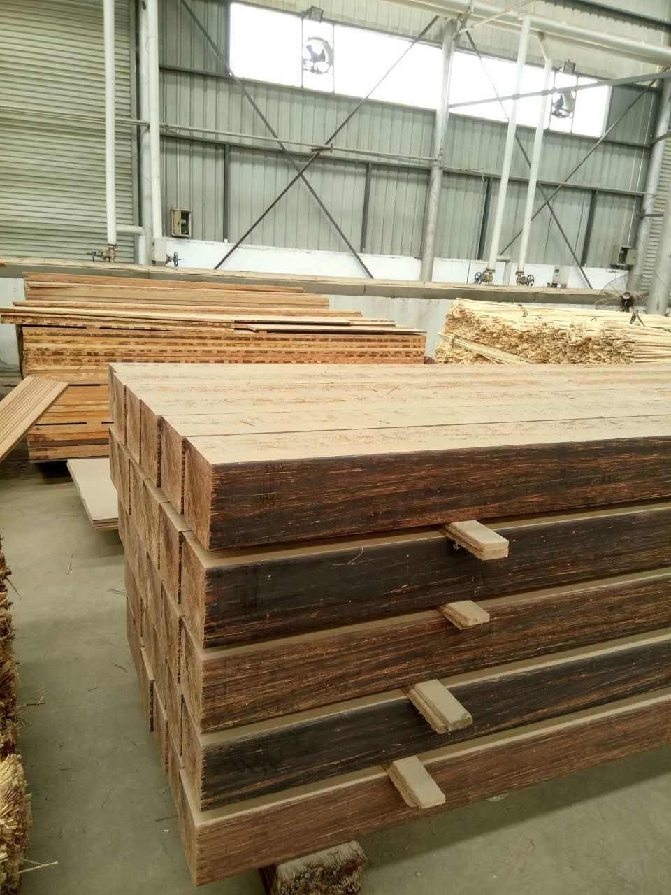 Solid Strand Woven Heavy Bamboo Flooring for Park