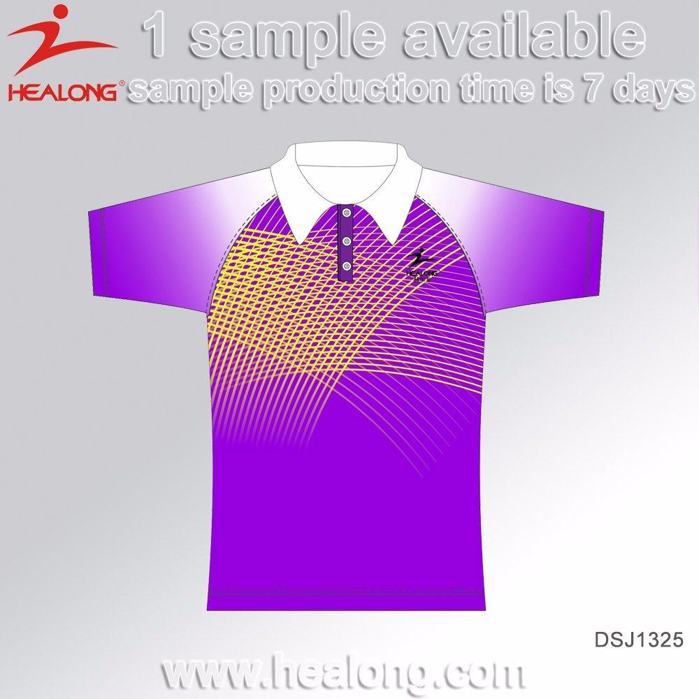Healong Sportswear Customized Palain Tennis Polo T-Shirts for Men