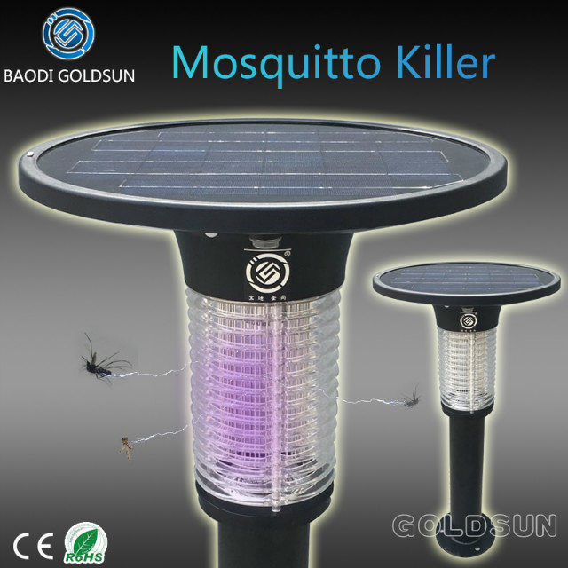 Solar Garden Mosquito Killer Lamp with 365nm Wavelength