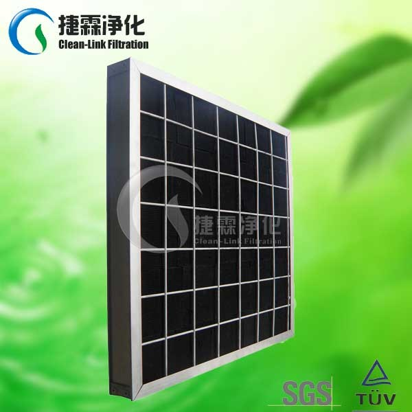 Aluminum Quality Activated Carbon Foldaway and Plank Air Filter