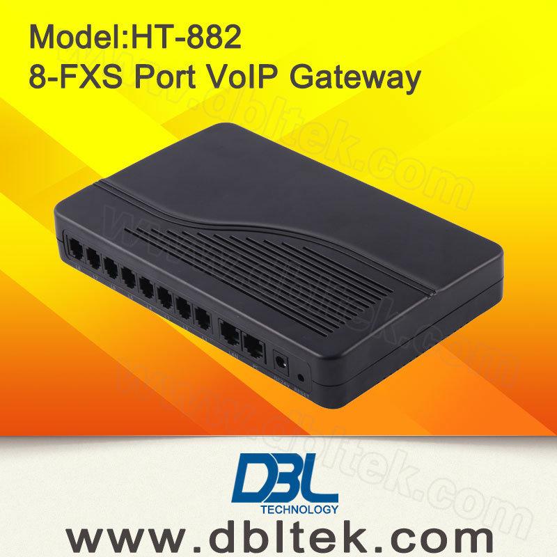 8 Ports VoIP FXS Gateway ATA Gateway (HT882)