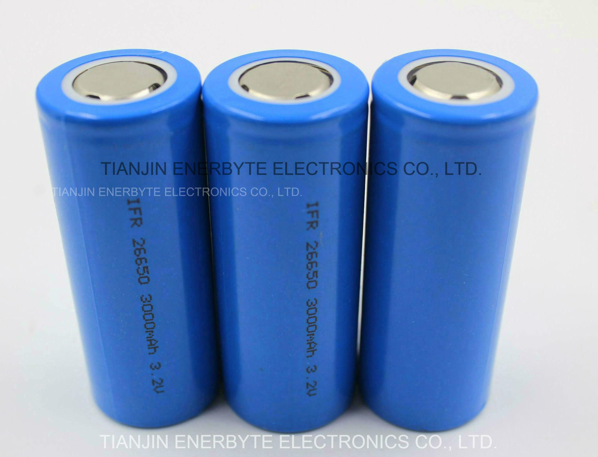 LiFePO4 Battery Cell LFP 26650 3.2V 3000mAh High Power