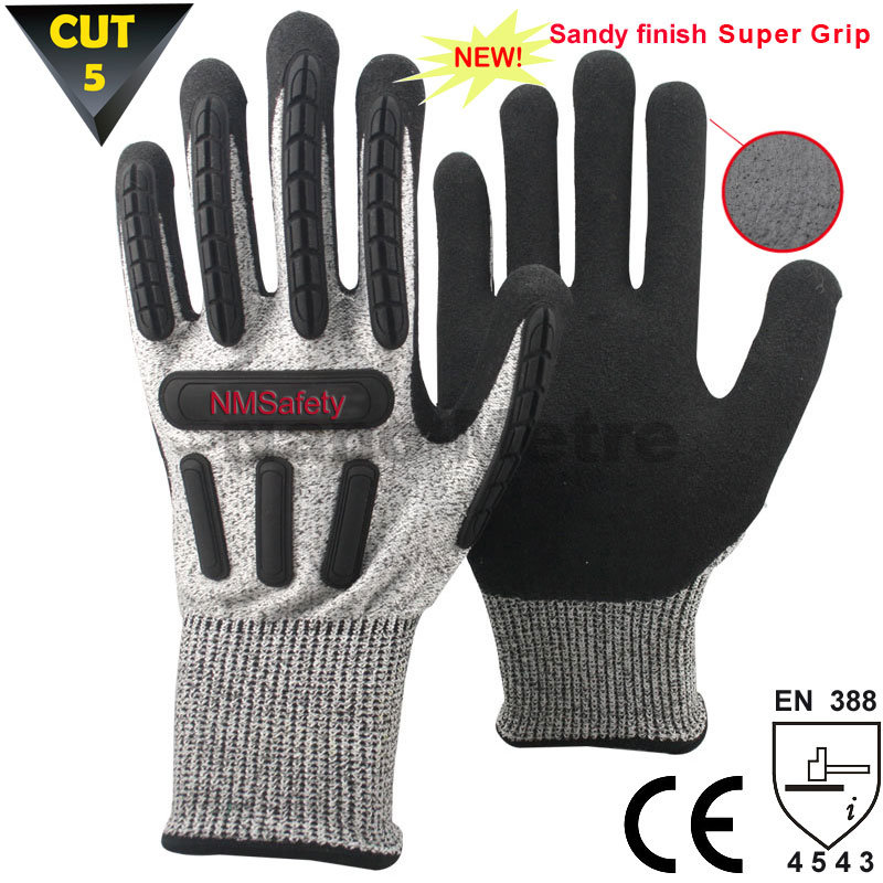 Nmsafety Hot Sale Anti-Cut High Impact Resistant Mechanic Gloves