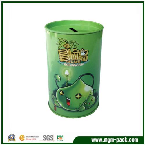 High Quality Custom Green Packing Coin Tin Box