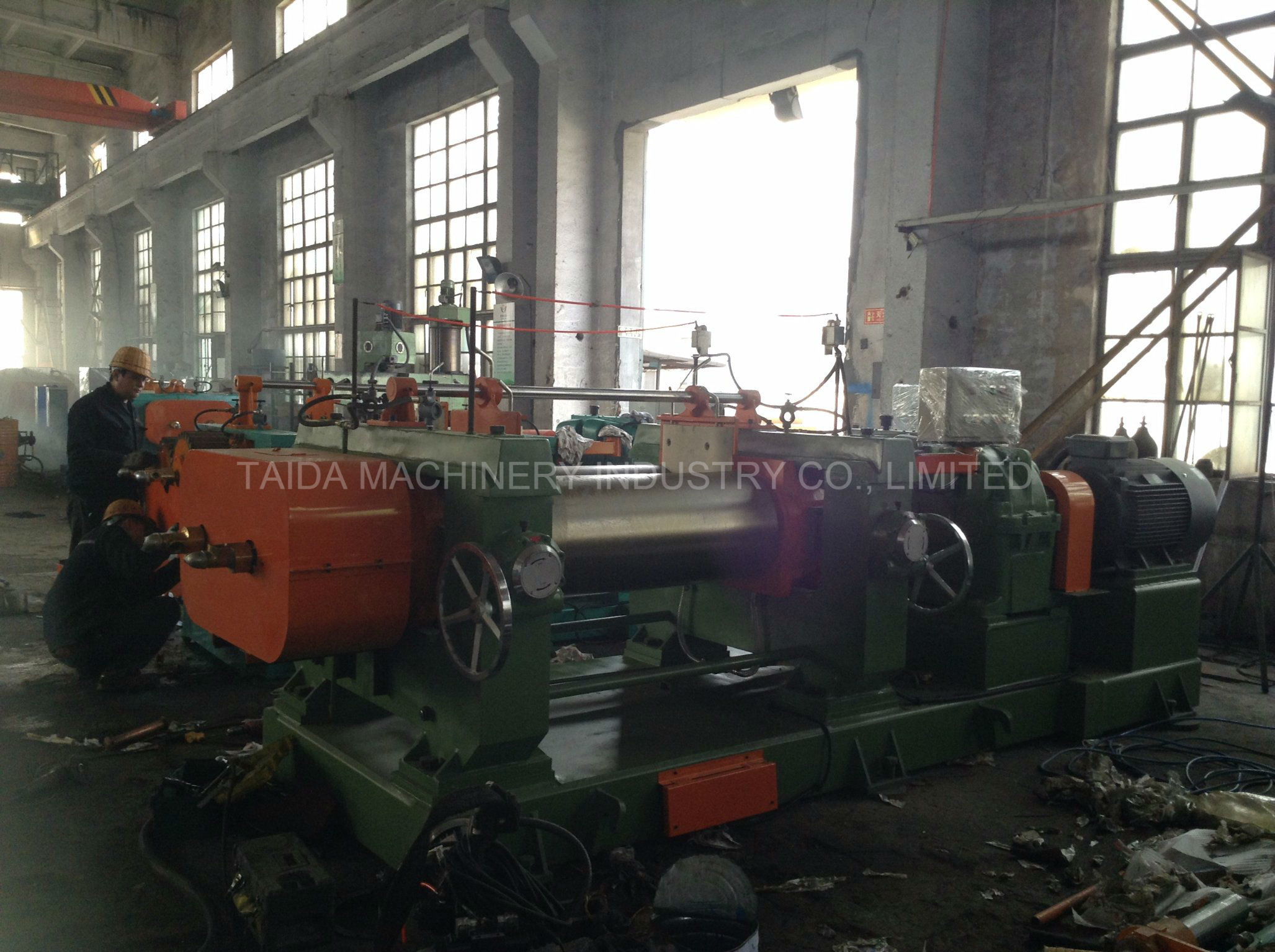 Best Safety Two Roll Rubber Mixing Mill Mixer Xk-400, 450, 560, 610
