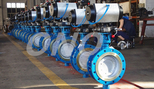 Metal Hard Sealing Eccentric Cast Iron Butterfly Valves
