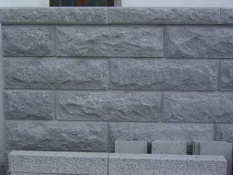 China G654 Granite Mushroom Stone Exterior Wall Cladding