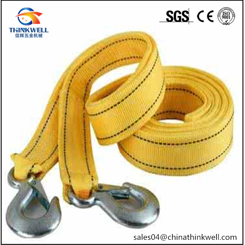 High Strength Winch Strap with Tow Hook