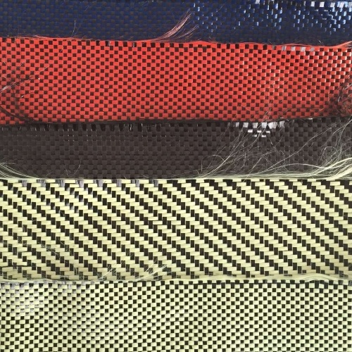 Colorful 3k 200g Aramid Kevlar Fiber Fabrics