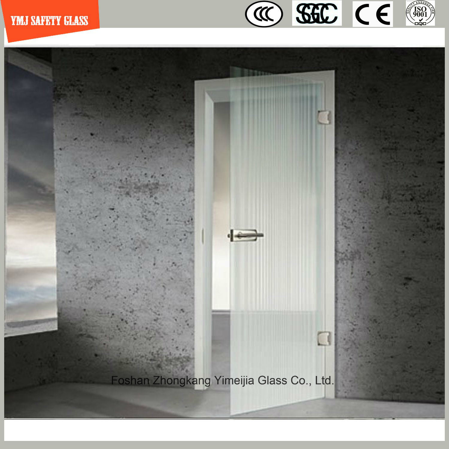3-19mm Silkscreen Print/Acid Etch/Frosted/Pattern Flat/Bent Tempered/Toughened Glass for Door/Window/Shower Door in Hotel and Home