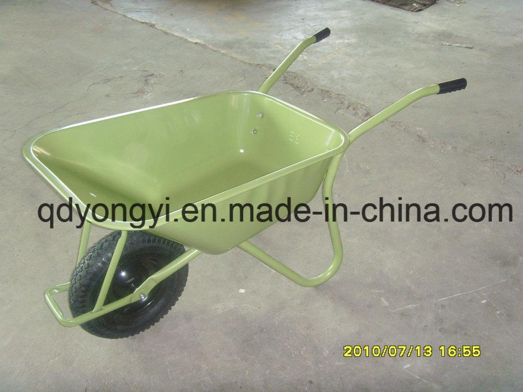 Heavy Duty Wheelbarrow with Galvanized Tray for Ghana Market and Europe Wb6404h
