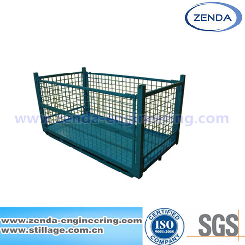 Metal Stillage Cage / Steel Container Pallet / Foldable Cage Pallet