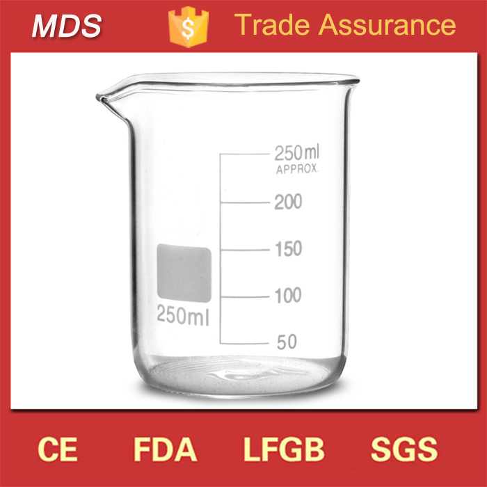 High Borosilicate Glass Laboratory Measuring Beakers with Handle