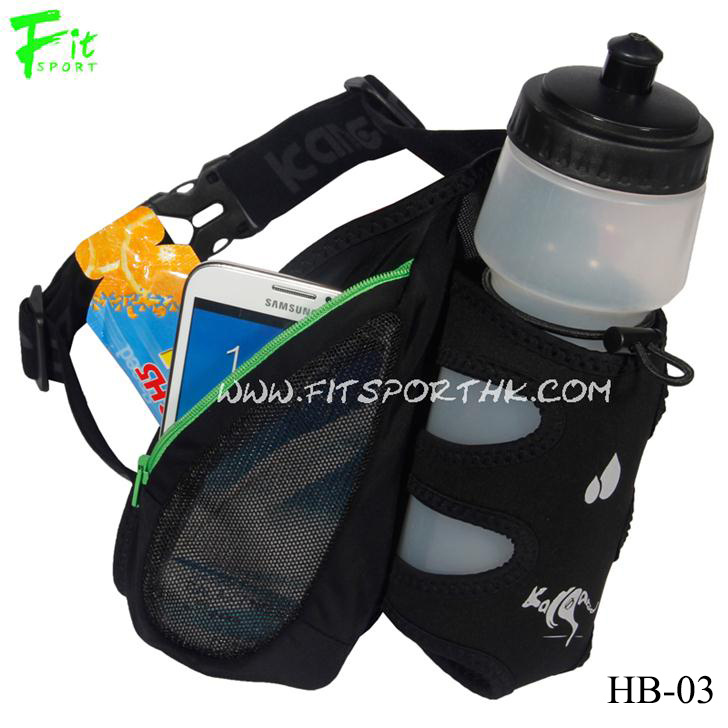 Neoprene Running Water Belt with Net Fabric Phone Pouch (Style No.: HB-03)