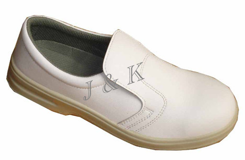 White Safety Shoes Made of Leather (JK46021)