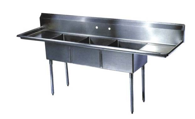 Stainless steel sinks china restaurant supply stainless steel sink table - Stainless steel table with sink and faucet ...