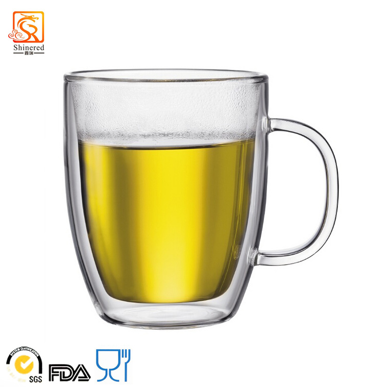 Hand-Blown Double-Wall High Borosilicate Glass Mug