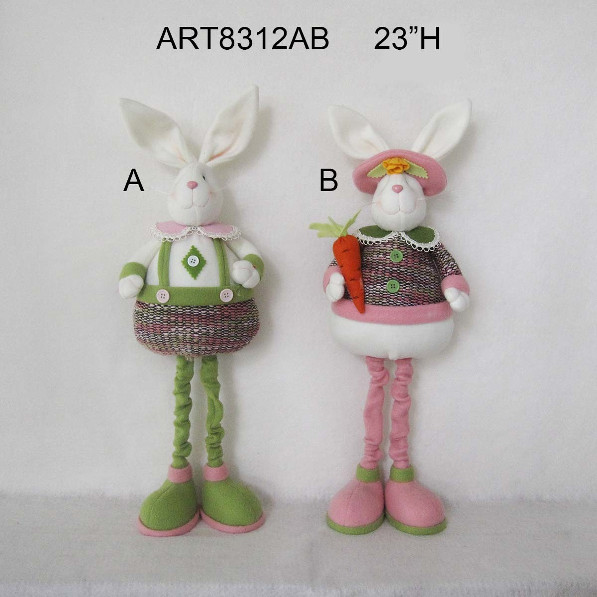 Standing Boy and Girl Bunny Easter Garden Decoration