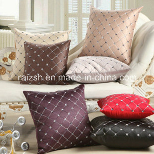 Embroidered Plaid Office Sofa Cushion Covers