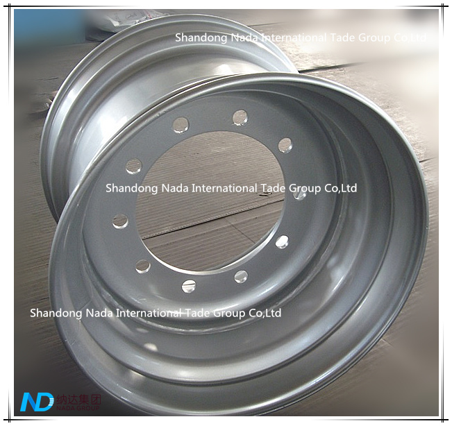 22.50X16.00 Tubeless Rim TBR Truck Steel Wheel with Ts16949/ISO9001: 2000